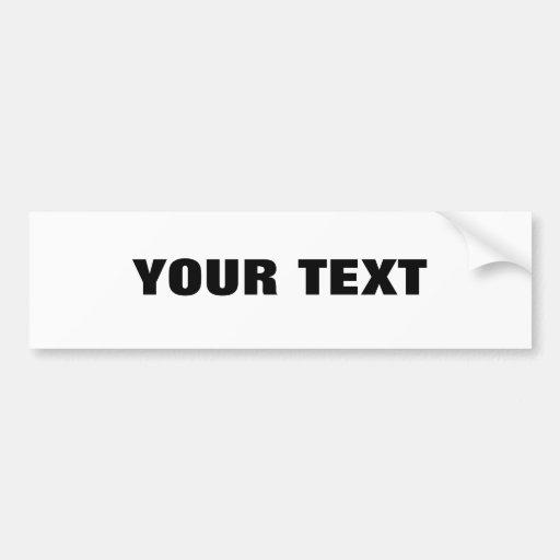 "Your Text ""Folio Extra Bold"" Bumper Sticker"