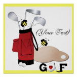 (Your Text) Golf Canvas Print