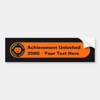Your Text Here - Achievement Unlocked (Halloween) Bumper Sticker