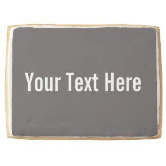 Your Text Here Grey Jumbo Shortbread Cookie