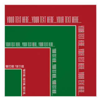 """Your Text Here"" Red/Green Color Corner (MB) Print"
