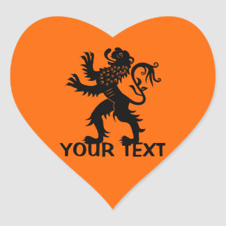 Your Text - Holland Lion Heart Stickers