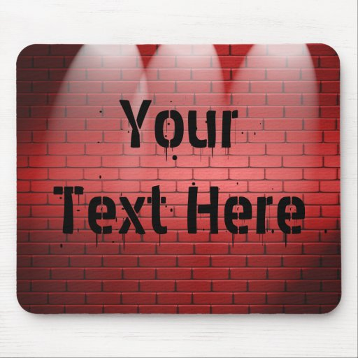 Your Text  In Spotlights Mousepad Mouse Pads