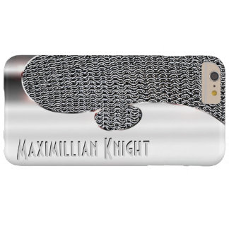 Your text on this faux silver and chain mail barely there iPhone 6 plus case