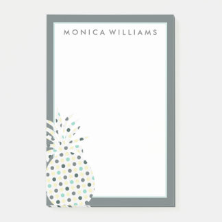 Your Text   Tropical Pattern Pineapple Post-it Notes