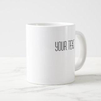 Your Text White Ceramic Jumbo Mug Template