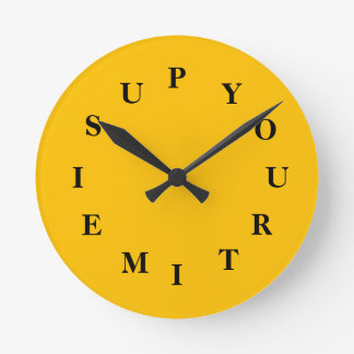 Your Time Is Up Gold Medium Clock by Janz