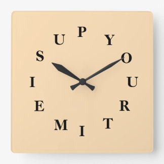 Your Time Is Up Wheat Wall Clock by Janz
