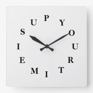 Your Time Is Up White Smoke Wall Clock by Janz