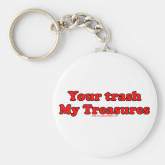 Your Trash My Treasures Basic Round Button Key Ring