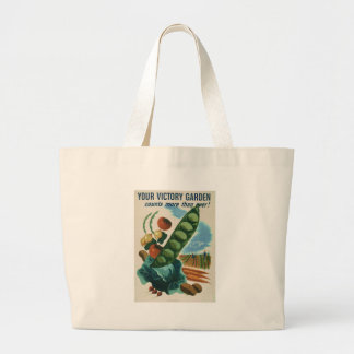 Your victory garden counts more than ever! large tote bag