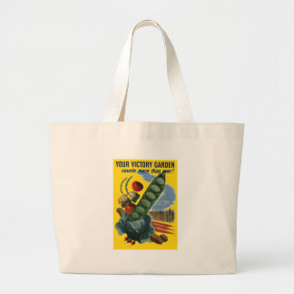 Your Victory Garden Vintage WW2 Poster Jumbo Tote Bag