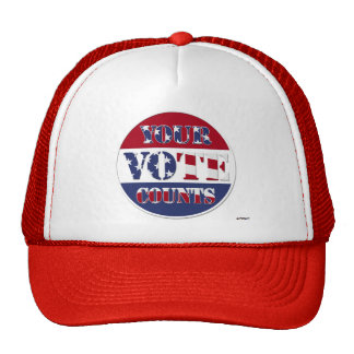 YOUR VOTE COUNTS! Round with US Flag Cap