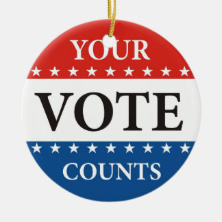 your vote counts usa president elections politics christmas ornament
