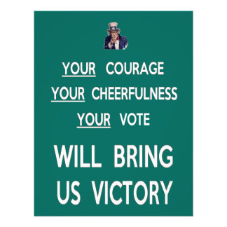 Your Vote Will Bring Us Victory 21.5 Cm X 28 Cm Flyer