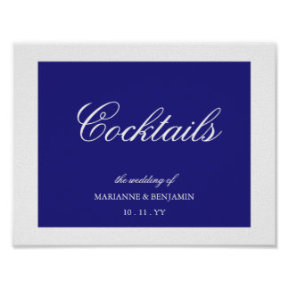 Your Wedding Color Wedding Sign with Name and Date