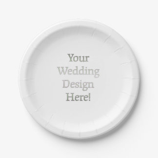 Your Wedding Design 7 Inch Paper Plate