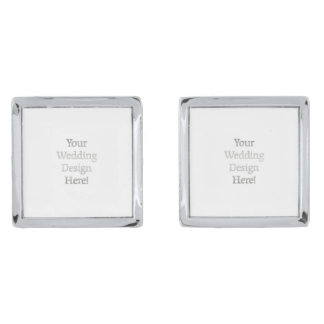 Your Wedding Design Silver Finish Cuff Links