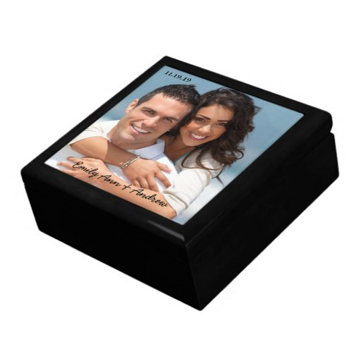 Your Wedding or Engagement Photo Anniversary Gift Keepsake Boxes