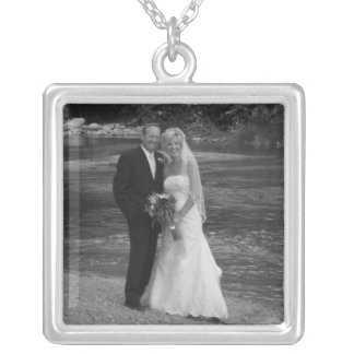 Your Wedding Photo Sterling Silver Necklace