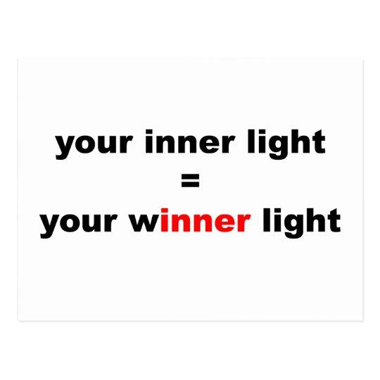Your Winner Light Postcard