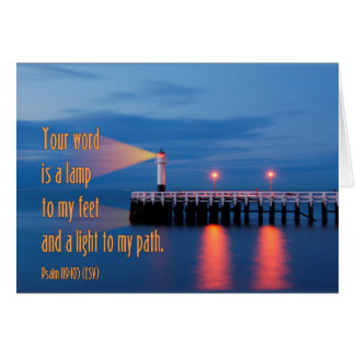 Your Word Is a Light Psalm 119:105 Bible Verse Card