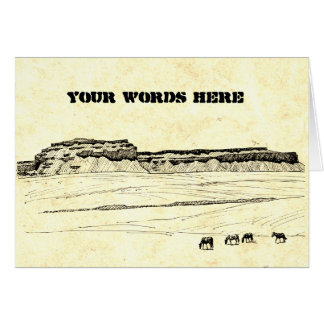 Your Words on Hand Made Paper with High Desert Card