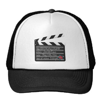 Your Words Personalize Movie Director Clapboard Cap