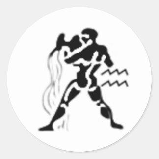Your zodiac sign - Aquarius Round Sticker