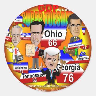 Youra GOP Super Tuesday Round Sticker