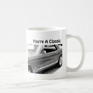 You're a Classic, Classic 1968 Mustang Basic White Mug