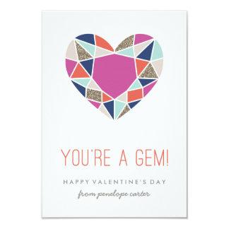 You're a Gem Classroom Valentine - Cobalt 9 Cm X 13 Cm Invitation Card