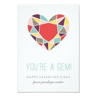 You're a Gem Classroom Valentine - Plum 9 Cm X 13 Cm Invitation Card