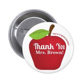 You're a great teacher! Teacher appreciation apple 6 Cm Round Badge