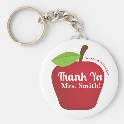 You're a great teacher! Teacher appreciation apple Keychains