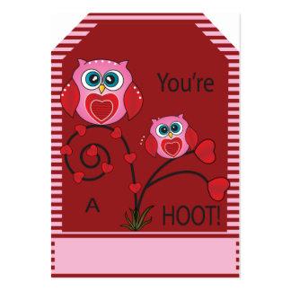 You're a Hoot Owl Gift Tags Pack Of Chubby Business Cards