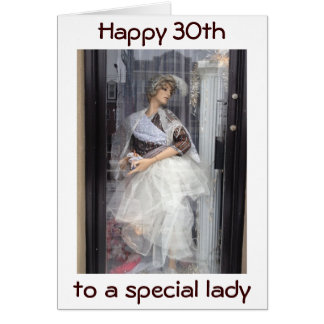 YOU'RE A MODEL FOR US ALL=HAPPY 30th BIRTHDAY Greeting Card