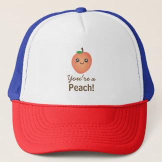 You're a Peach Sweet Kawaii Cute Funny Foodie Cap