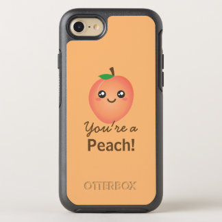 You're a Peach Sweet Kawaii Cute Funny Foodie OtterBox Symmetry iPhone 8/7 Case