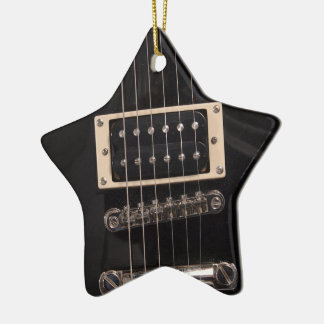 You're a Rock Star Black Electric Guitar Strings Christmas Ornament