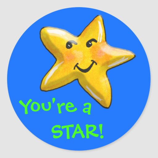 You're A Star Achievement Award Stickers