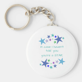 You're a Star Inspirational Quote motivational upl Basic Round Button Key Ring