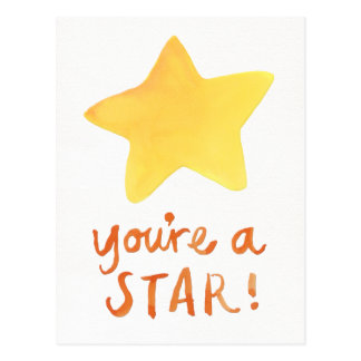 You're A Star Postcard