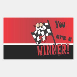 You're A Winner Rectangular Sticker