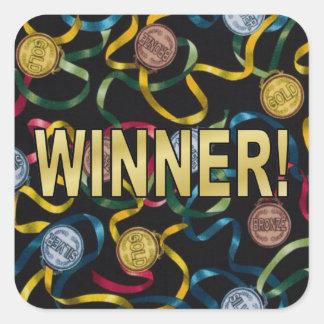 You're a Winner! Square Sticker