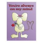 """You're always on my mind rat"" postcard"