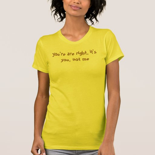 you're are right, it's you, not me t-shirt