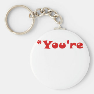 You're Basic Round Button Key Ring