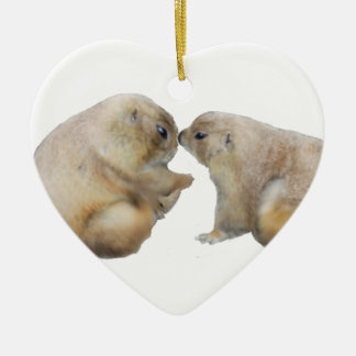 You're blessed groundhogs ceramic heart decoration