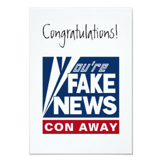 You're Fake News message card 9 Cm X 13 Cm Invitation Card